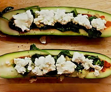 Need something to do with all that zucchini? Try our tasty pizza boats!